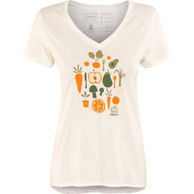Patagonia W's Harvest Haul Organic V-Neck T-Shirt White